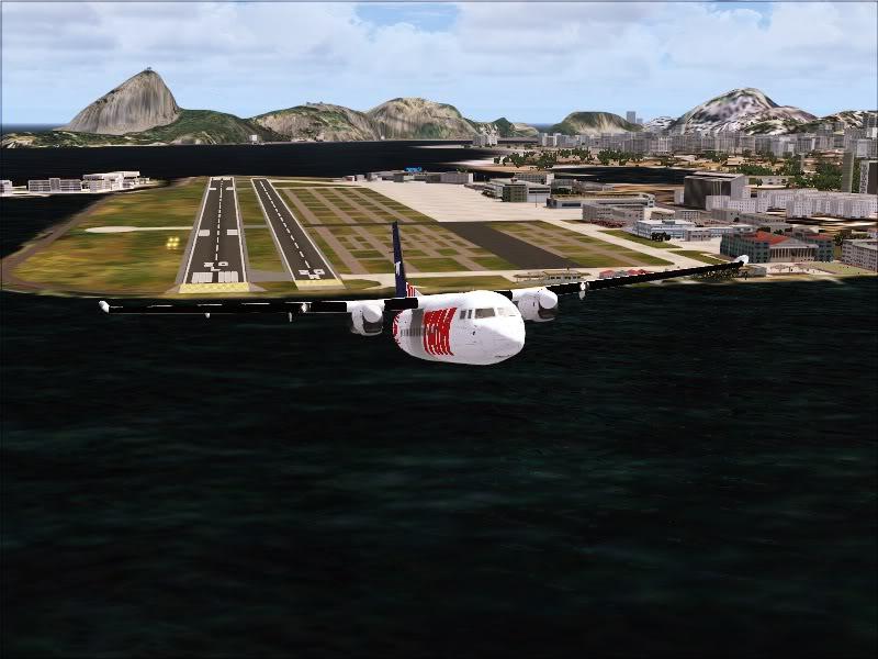 Fokker 50 TAM no Rio de Janeiro. 4-10