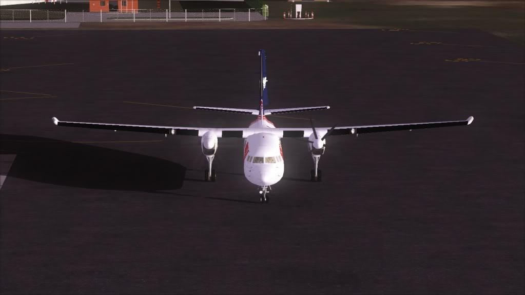 Fokker 50 TAM pousando em Bauru 4-5