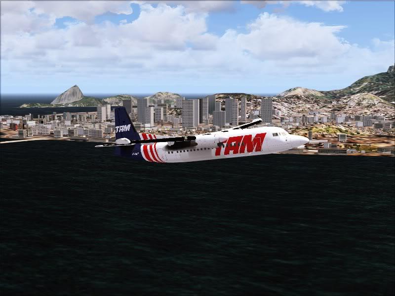 Fokker 50 TAM no Rio de Janeiro. 5-7