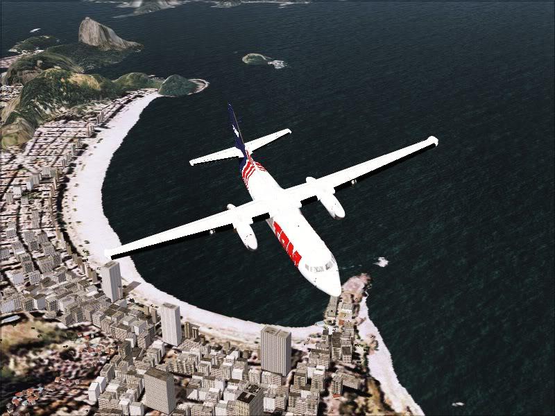 Fokker 50 TAM no Rio de Janeiro. 7-5