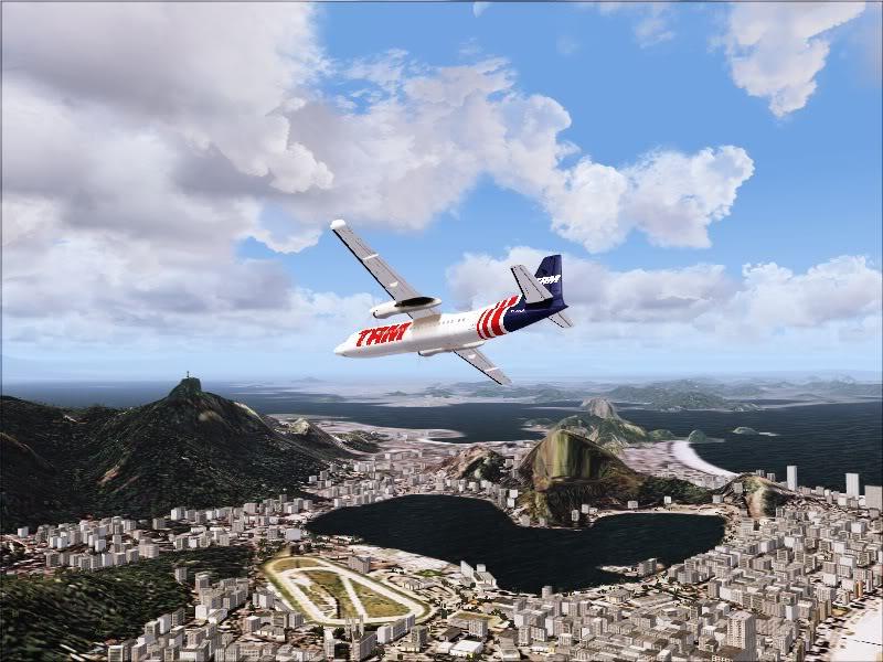 Fokker 50 TAM no Rio de Janeiro. 8-4