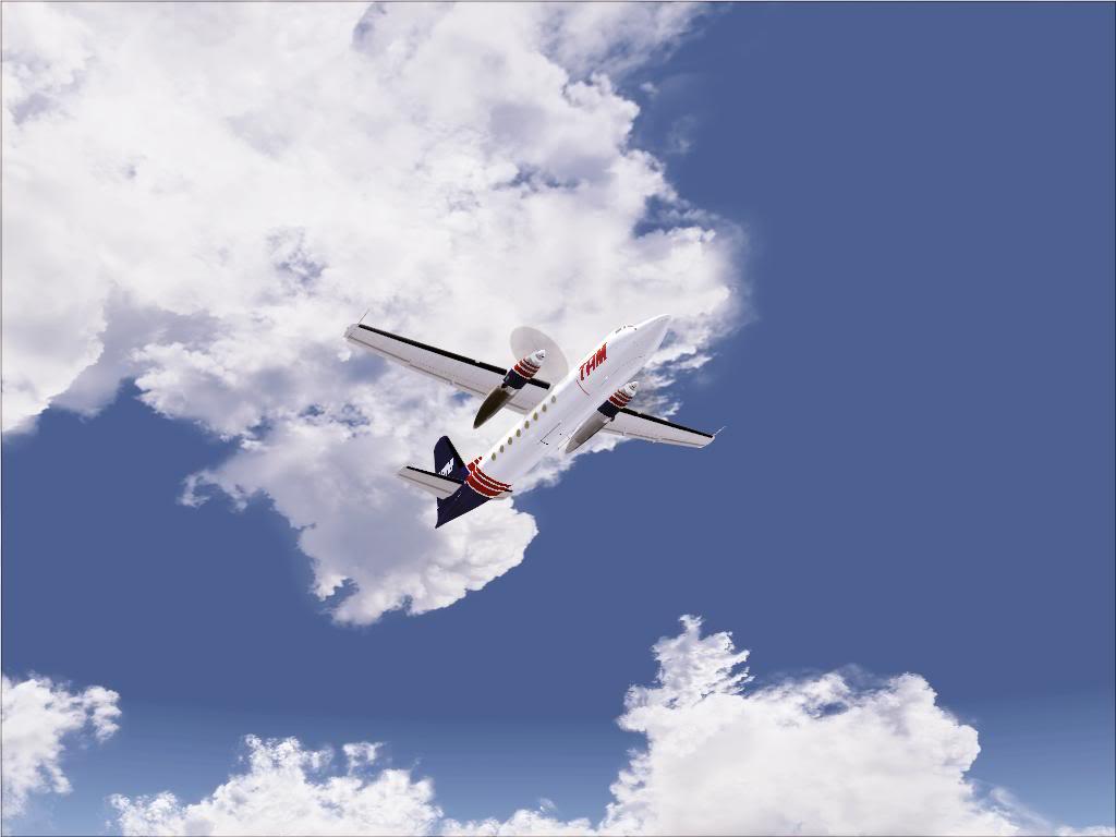 Pouso com Fokker 27 mk600 da TAM Fs92011-11-2501-37-29-97