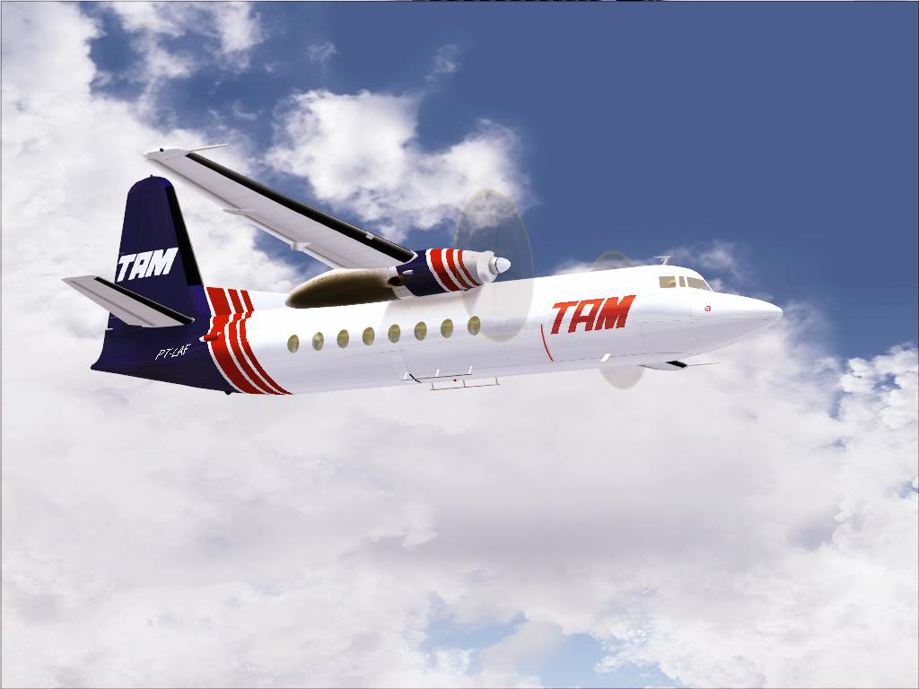 Pouso com Fokker 27 mk600 da TAM Fs92011-11-2501-38-07-58