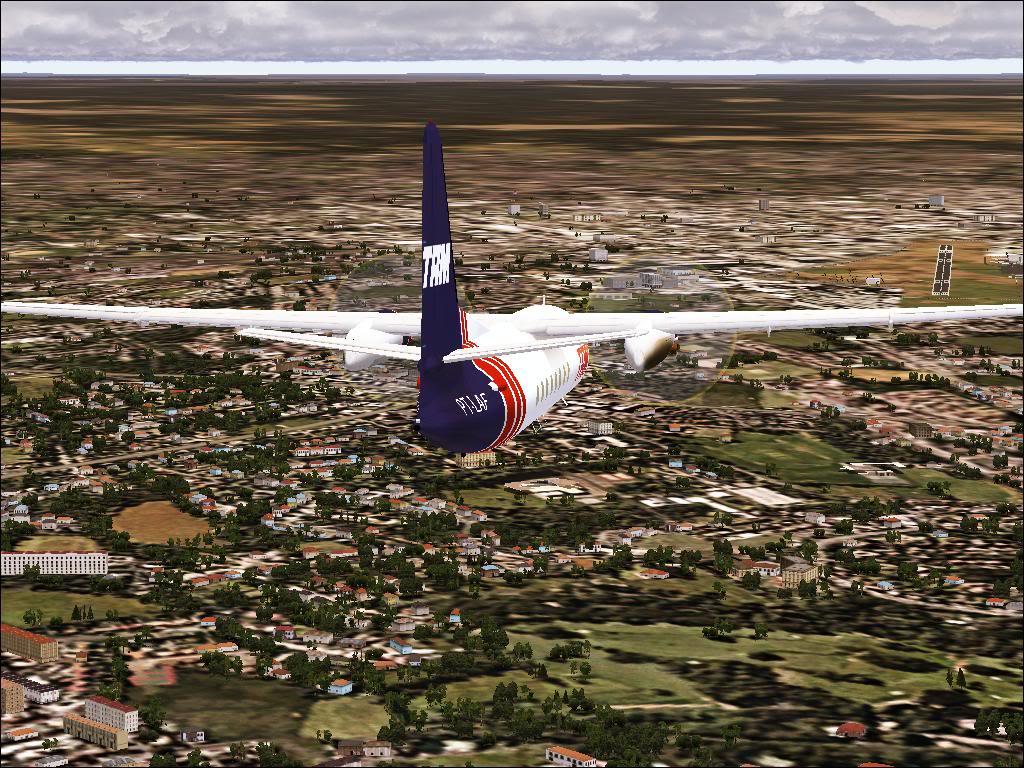 Pouso com Fokker 27 mk600 da TAM Fs92011-11-2501-38-18-97