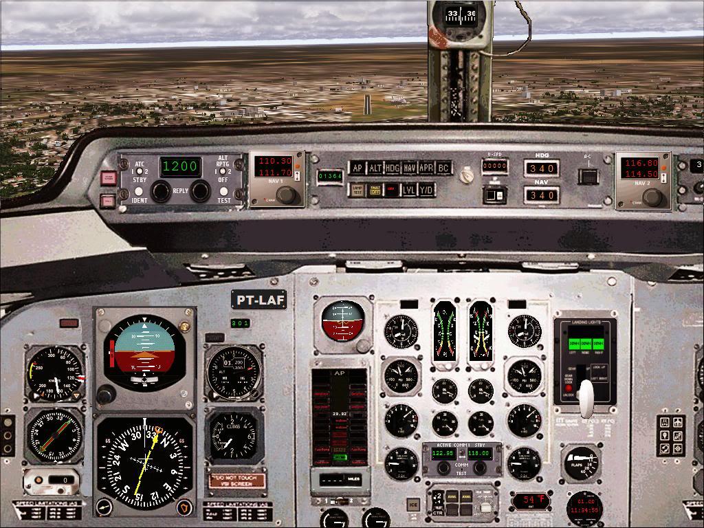 Pouso com Fokker 27 mk600 da TAM Fs92011-11-2501-38-34-72