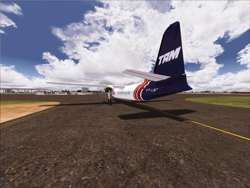 Pouso com Fokker 27 mk600 da TAM Fs92011-11-2501-43-37-88