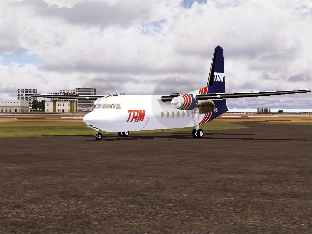 Pouso com Fokker 27 mk600 da TAM Fs92011-11-2501-44-44-05