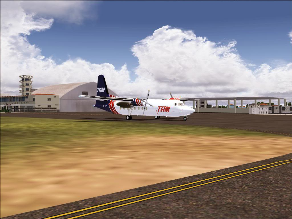 Pouso com Fokker 27 mk600 da TAM Fs92011-11-2501-45-02-69