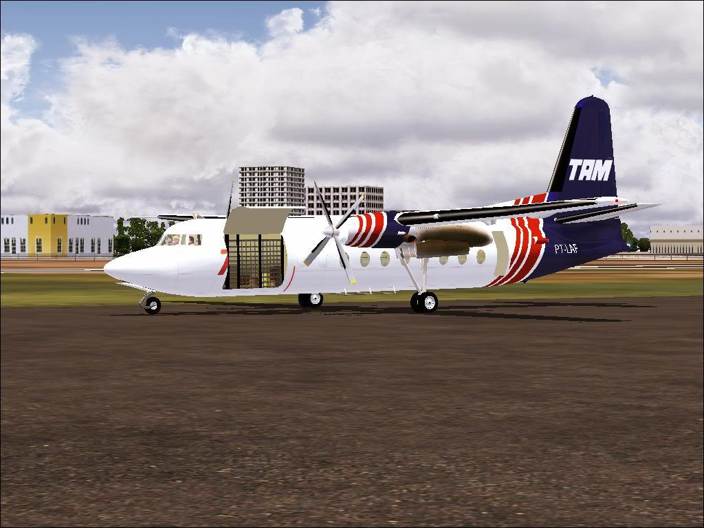 Pouso com Fokker 27 mk600 da TAM Fs92011-11-2501-45-14-52