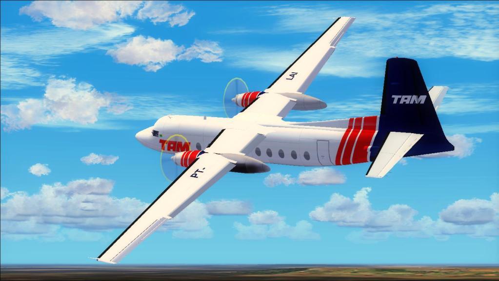 Fokker 27-200 TAM Teste de pintura Fs92012-07-1509-15-33-03-1