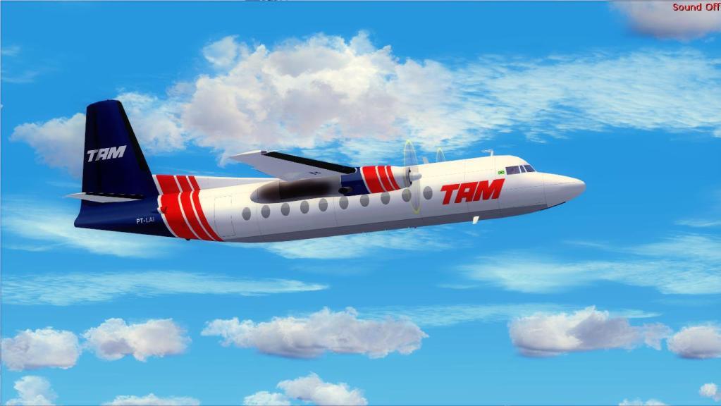 Fokker 27-200 TAM Teste de pintura Fs92012-07-1509-16-46-09