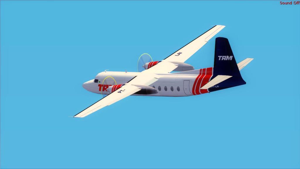 Fokker 27-200 TAM Teste de pintura Fs92012-07-1509-17-02-18