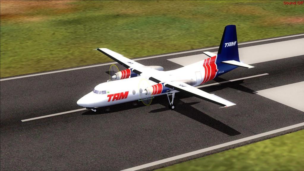 Fokker 27-200 TAM Teste de pintura Fs92012-07-1509-18-17-82