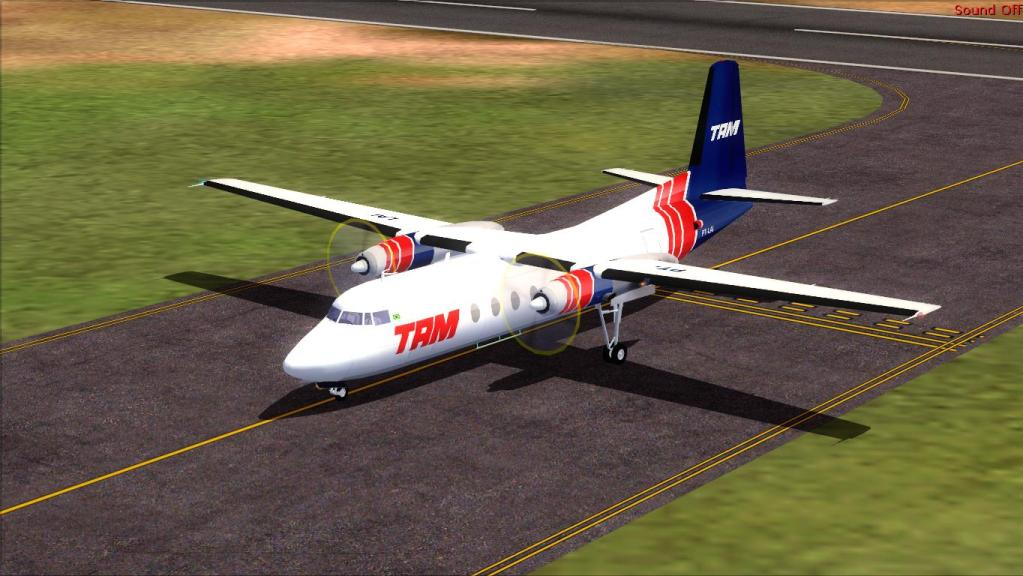 Fokker 27-200 TAM Teste de pintura Fs92012-07-1509-19-08-29