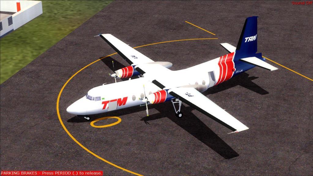 Fokker 27-200 TAM Teste de pintura Fs92012-07-1509-20-36-90