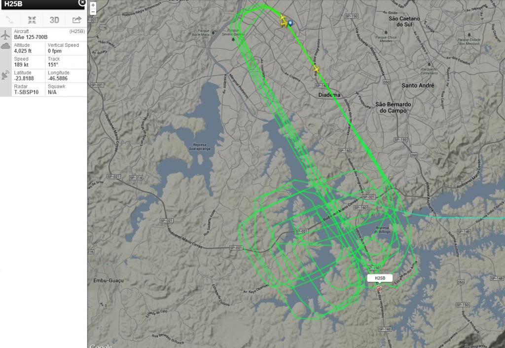 "BAe 125-700B ""desenhando"" no Flight Rdar H25b_zpsb2c9f112"