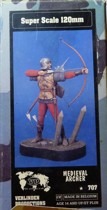 archer medieval verlinden 120mm Boite