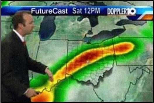 ¿Qué hay de raro en las imágenes? Meteorologo