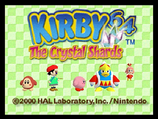 Kirby 64: The Crystal Shards K6TCSKirby64Title