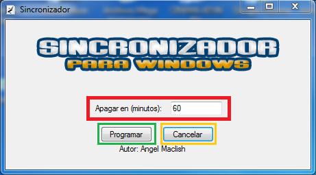 Sincronizador de Windows ( apagado automático de pc) Funcion