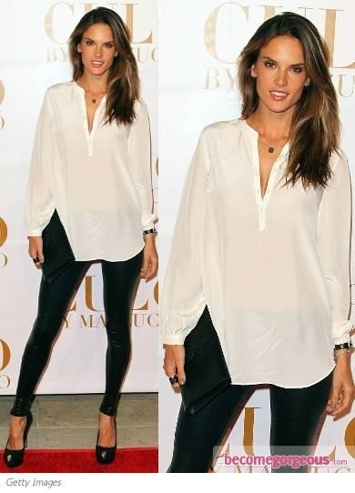 LFM2 Capitulo 4 Alessandra-ambrosio-white-shirt-leggings-becomegorgeous