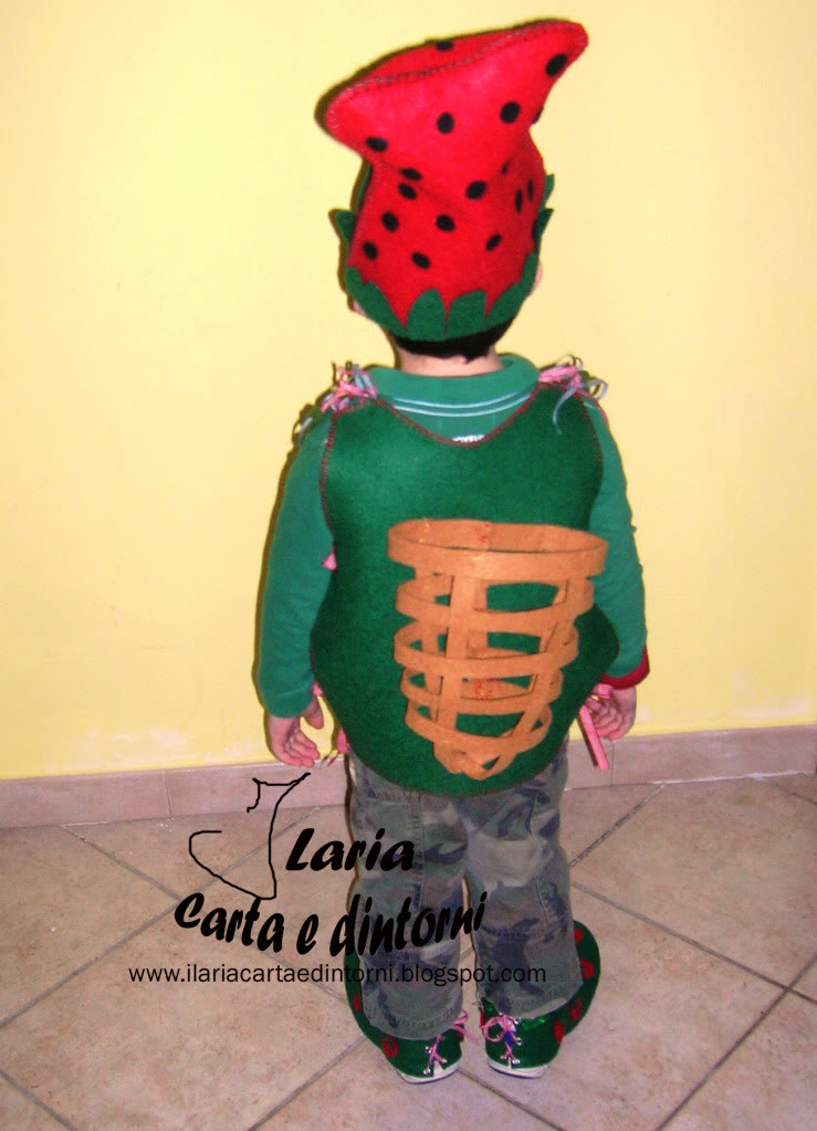 Vestito per Folletto delle Fragole BelvettaFollettoRetro