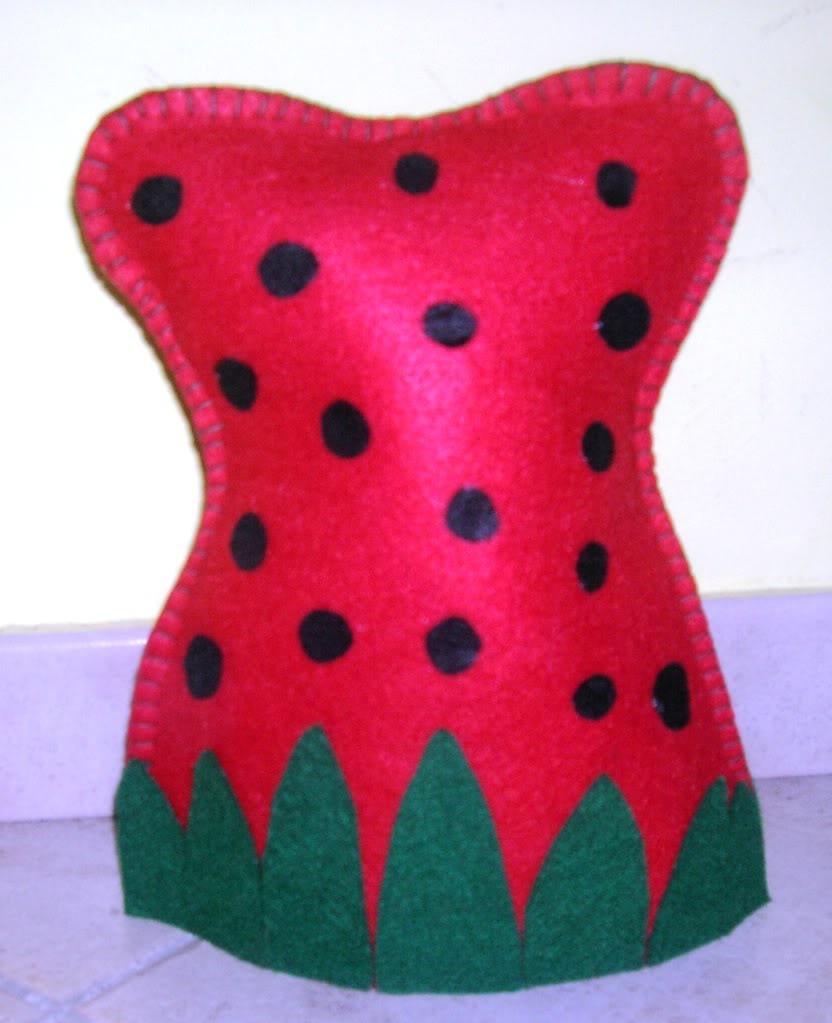 Vestito per Folletto delle Fragole CostumeFragolaCappello