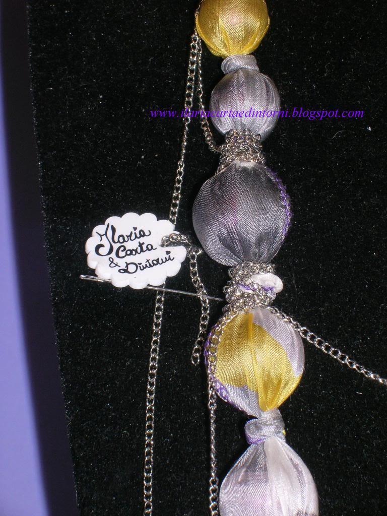 Collana fatta con foulard Collanafoulardpart1