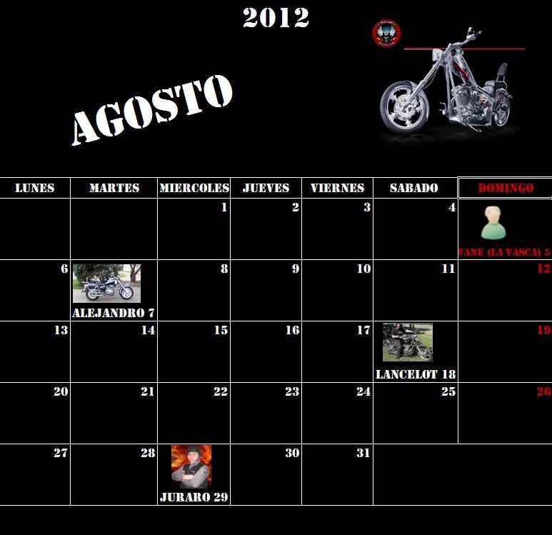 CUMPLEAÑOS DE AGUILAS LIBRES CUSTOM CLUB ALCC_Agosto
