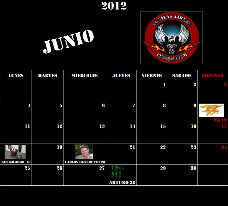 CUMPLEAÑOS DE AGUILAS LIBRES CUSTOM CLUB ALCC_Junio