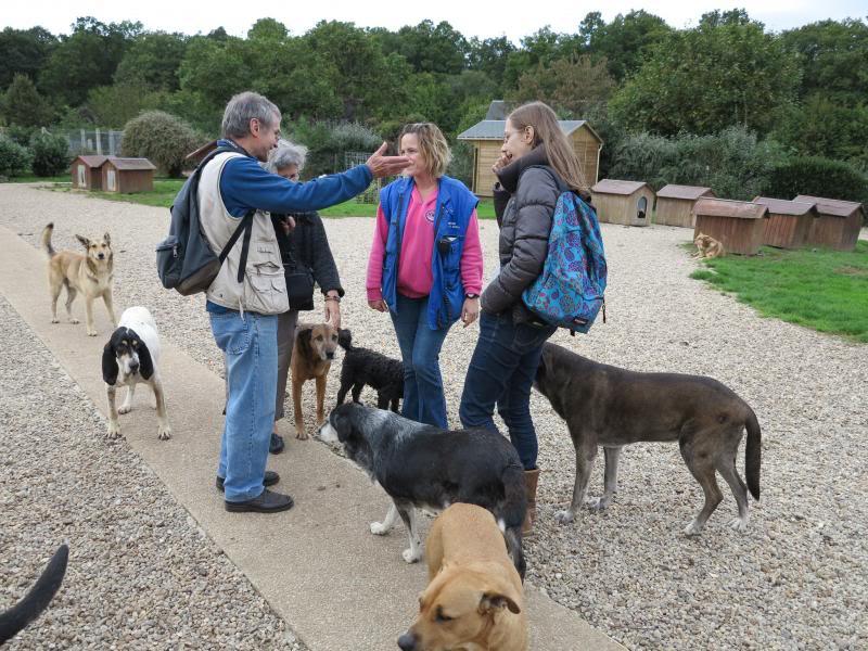 L'équipe Charly le Blanc en visite au refuge de la Mare Auzou IMG_0034