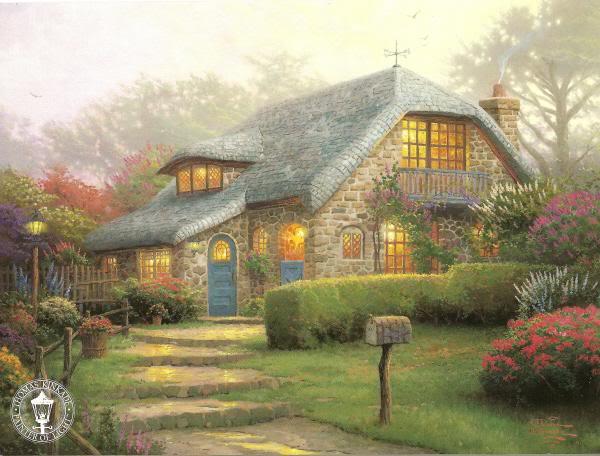 Thomas Kinkade - художник радости и света LilacCottage