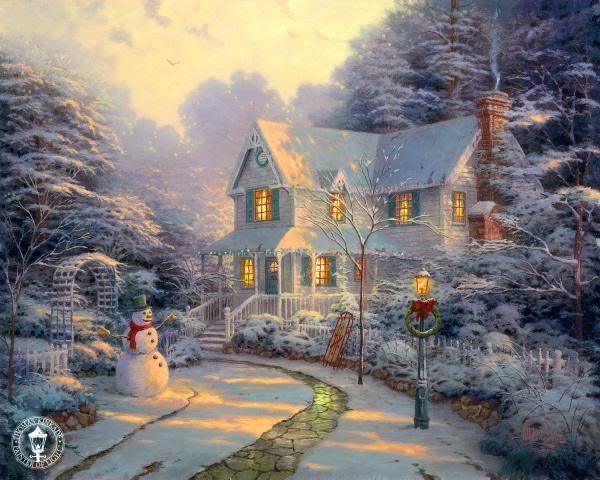 Thomas Kinkade - художник радости и света TheNightBeforeChristmas