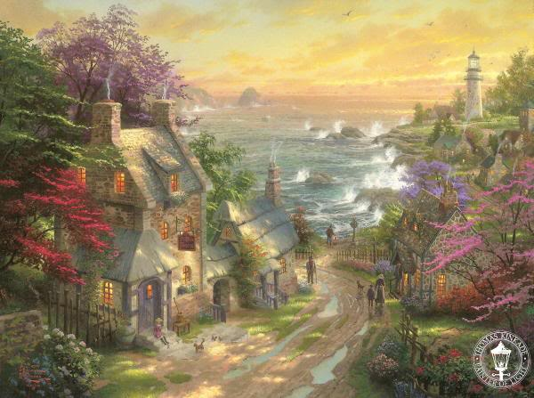 Thomas Kinkade - художник радости и света TheVillageLighthouse
