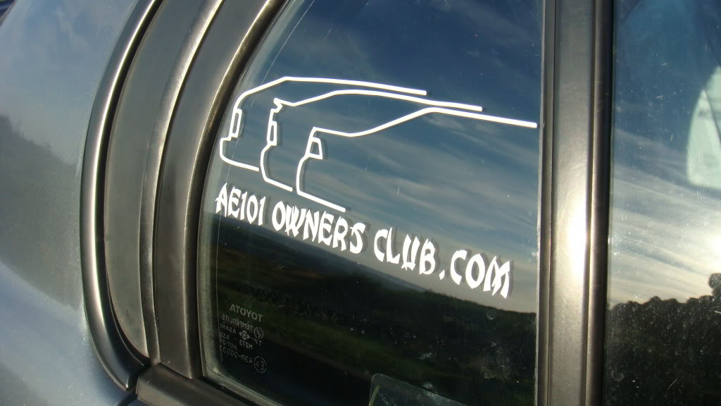 ***NEW** AE101 Owners Club Sticker***NEW*** DSC02626