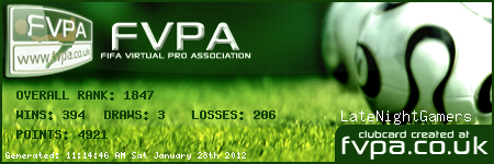 FIFA Virtual Pro Association FVPA-ClubCard3