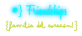 •} Forget About What You've Heard, This is MY WORLD! Relationships3-friend