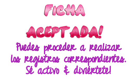 Asly Lively .~ Fichaaceptada