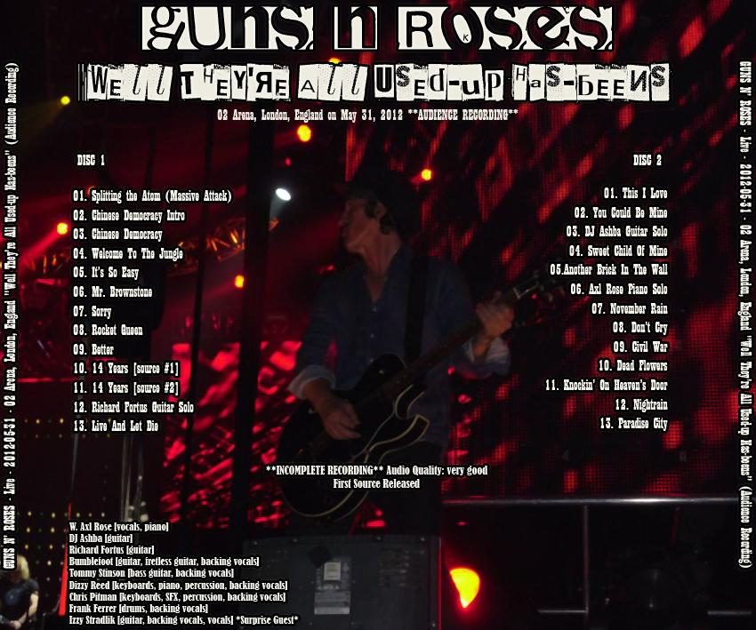 MP3] Guns N' Roses @ Live - 2012-05-31 - O2 Arena, London