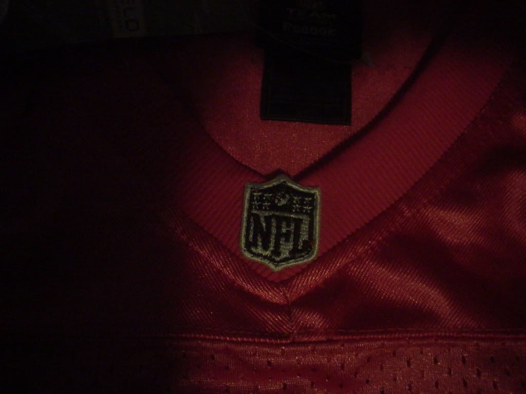Is this Aaron Rodgers Pink Replica Jersey Fake? DSC00313