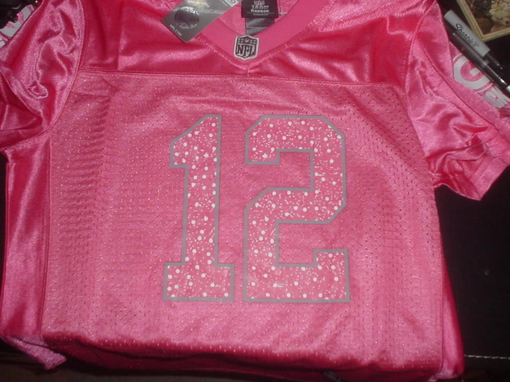 Is this Aaron Rodgers Pink Replica Jersey Fake? DSC00318