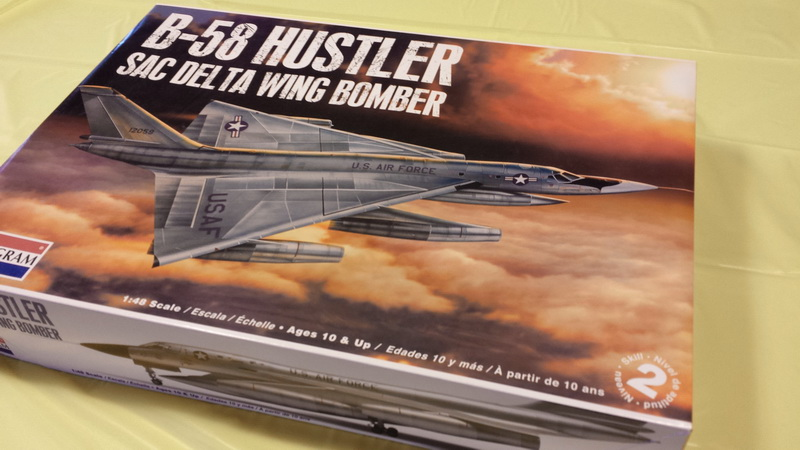 "Project B58 Hustler Monogram kit 1/48 scale model : Nuclear bomber of the ""Cold War"" 20130714_145405"