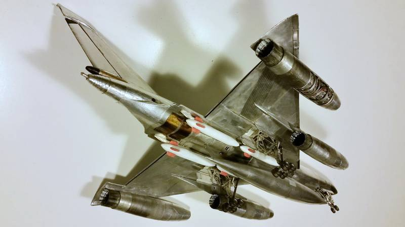 "Project B58 Hustler Monogram kit 1/48 scale model : Nuclear bomber of the ""Cold War"" 20150604_230723"