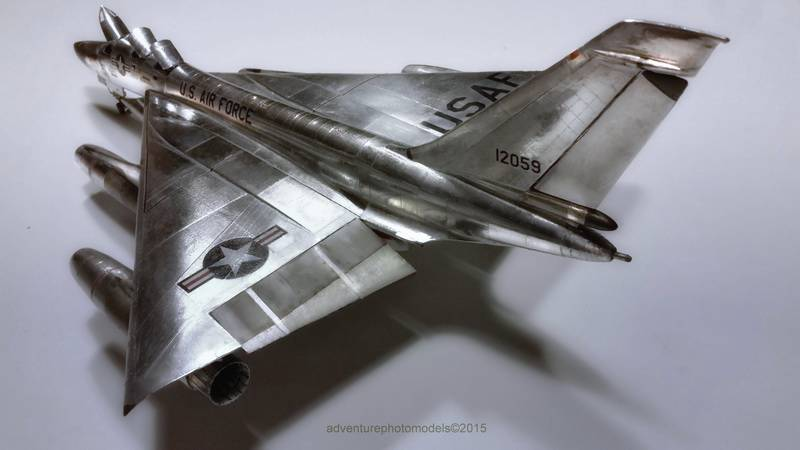 "Project B58 Hustler Monogram kit 1/48 scale model : Nuclear bomber of the ""Cold War"" 20150608_225922%20copy"