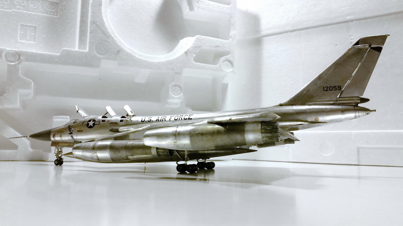 "Project B58 Hustler Monogram kit 1/48 scale model : Nuclear bomber of the ""Cold War"" 20150611_203617"