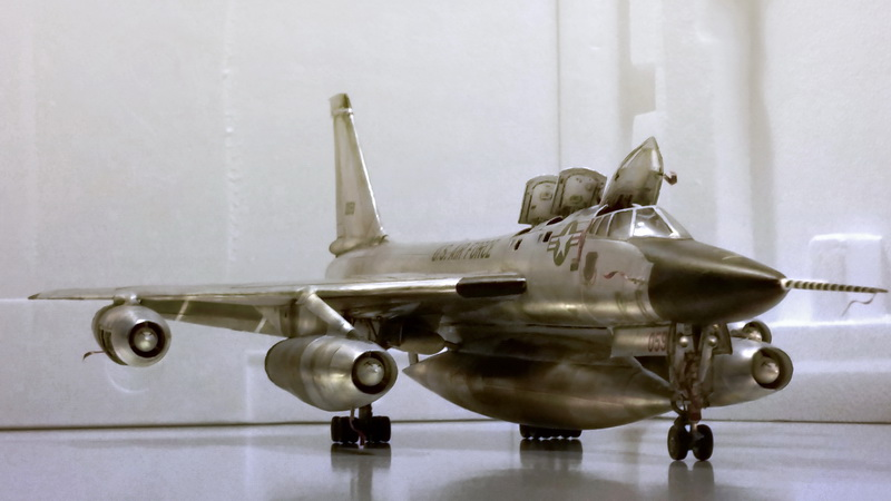 "Project B58 Hustler Monogram kit 1/48 scale model : Nuclear bomber of the ""Cold War"" 20150611_204720%20copy"