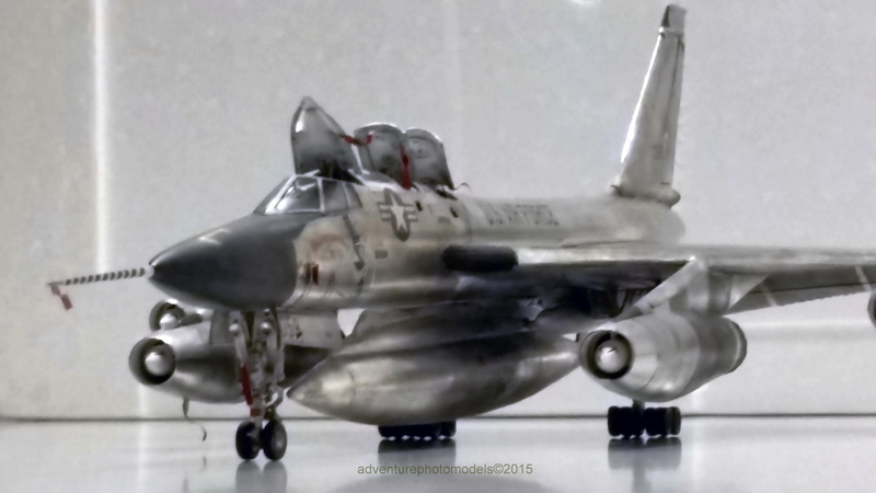 "Project B58 Hustler Monogram kit 1/48 scale model : Nuclear bomber of the ""Cold War"" 20150611_205005"