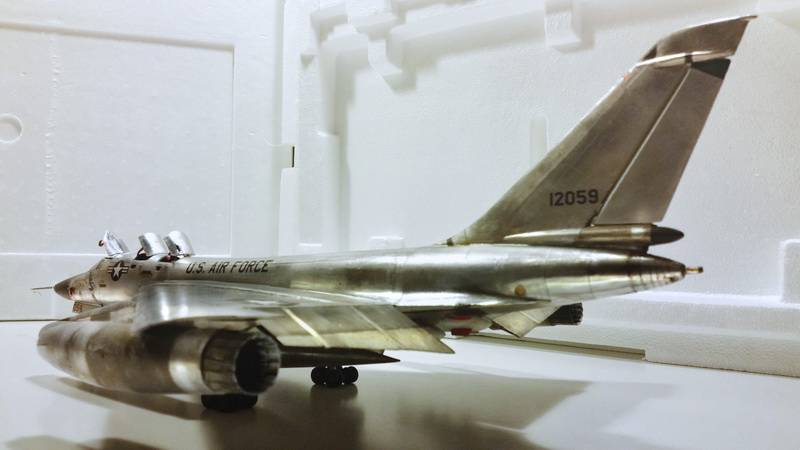 "Project B58 Hustler Monogram kit 1/48 scale model : Nuclear bomber of the ""Cold War"" 20150611_205821%20copy"
