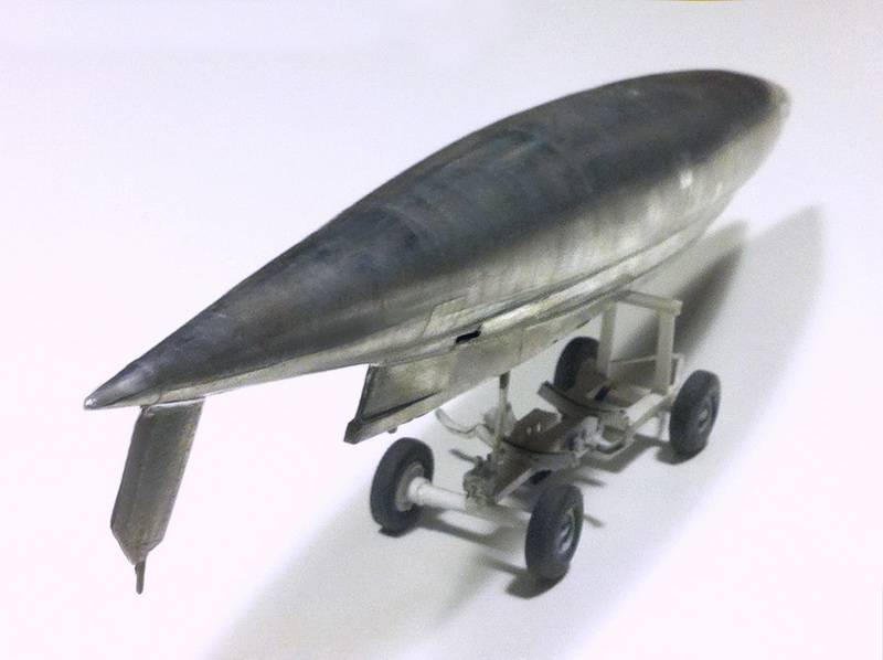 "Project B58 Hustler Monogram kit 1/48 scale model : Nuclear bomber of the ""Cold War"" Pod__19"