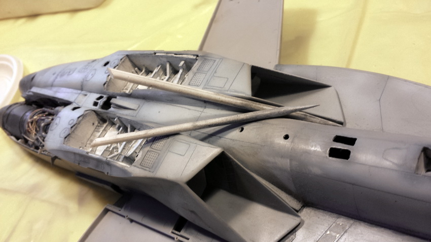 Boeing F/A - 18E Super Hornet Trumpeter kit scale 1:32 20130918_150414